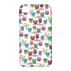 Happy Owls Apple iPhone 4/4S Hardshell Case with Stand