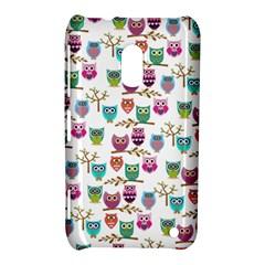 Happy Owls Nokia Lumia 620 Hardshell Case
