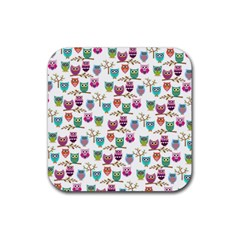 Happy Owls Drink Coasters 4 Pack (Square)