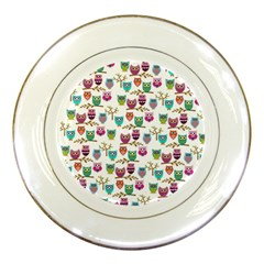Happy Owls Porcelain Display Plate