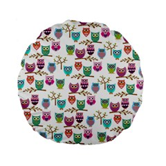 Happy Owls 15  Premium Round Cushion