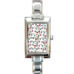 Happy Owls Rectangular Italian Charm Watch