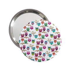 Happy Owls Handbag Mirror (2 25 )