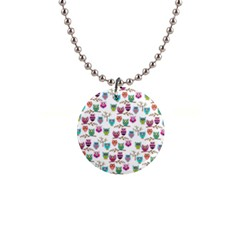 Happy Owls Button Necklace