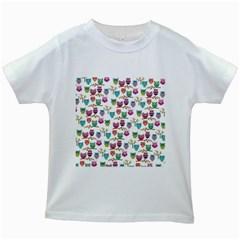 Happy Owls Kids' T Shirt (white)