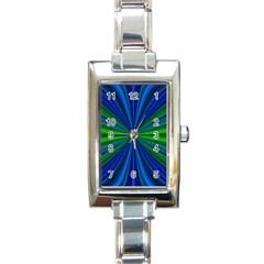 Design Rectangular Italian Charm Watch
