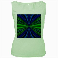 Design Womens  Tank Top (Green)
