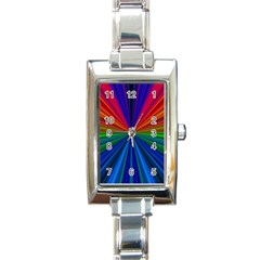 Design Rectangular Italian Charm Watch