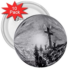 The Apple Of God s Eye Is Jesus - Ave Hurley - ArtRave - 3  Button (10 pack)