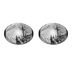 The Apple Of God s Eye Is Jesus - Ave Hurley - ArtRave - Cufflinks (Oval)