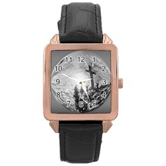 The Apple Of God s Eye Is Jesus   Ave Hurley   Artrave   Rose Gold Leather Watch