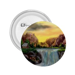 Brentons Waterfall - Ave Hurley - ArtRave - 2.25  Button