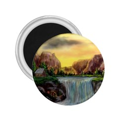 Brentons Waterfall - Ave Hurley - ArtRave - 2.25  Button Magnet