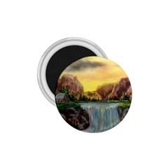 Brentons Waterfall - Ave Hurley - ArtRave - 1.75  Button Magnet