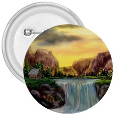 Brentons Waterfall - Ave Hurley - ArtRave - 3  Button