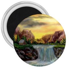 Brentons Waterfall   Ave Hurley   Artrave   3  Button Magnet