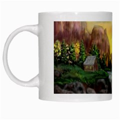 Brentons Waterfall - Ave Hurley - ArtRave - White Coffee Mug