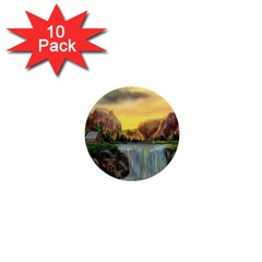 Brentons Waterfall - Ave Hurley - ArtRave - 1  Mini Button (10 pack)