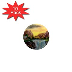 Brentons Waterfall   Ave Hurley   Artrave   1  Mini Button Magnet (10 Pack)