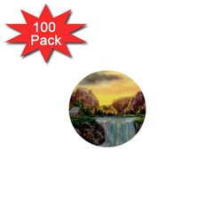 Brentons Waterfall - Ave Hurley - ArtRave - 1  Mini Button (100 pack)
