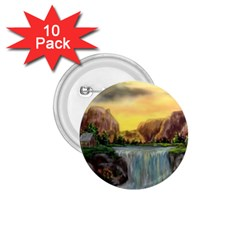 Brentons Waterfall - Ave Hurley - ArtRave - 1.75  Button (10 pack)