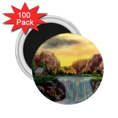 Brentons Waterfall   Ave Hurley   Artrave   2 25  Button Magnet (100 Pack)
