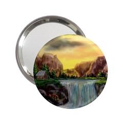 Brentons Waterfall   Ave Hurley   Artrave   Handbag Mirror (2 25 )