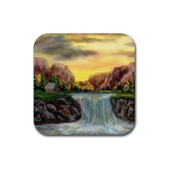 Brentons Waterfall   Ave Hurley   Artrave   Drink Coaster (square)