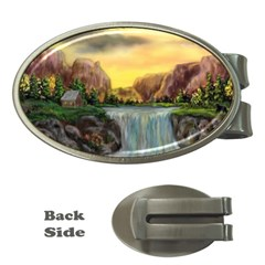 Brentons Waterfall - Ave Hurley - ArtRave - Money Clip (Oval)