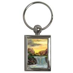 Brentons Waterfall - Ave Hurley - ArtRave - Key Chain (Rectangle)