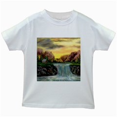 Brentons Waterfall - Ave Hurley - ArtRave - Kids' T-shirt (White)