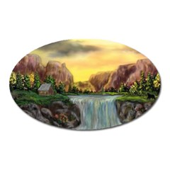 Brentons Waterfall - Ave Hurley - ArtRave - Magnet (Oval)