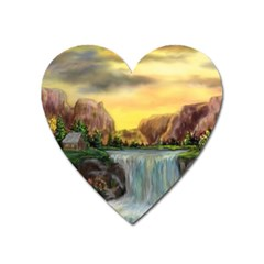 Brentons Waterfall - Ave Hurley - ArtRave - Magnet (Heart)