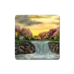 Brentons Waterfall - Ave Hurley - ArtRave - Magnet (Square)