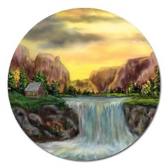 Brentons Waterfall - Ave Hurley - ArtRave - Magnet 5  (Round)