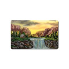 Brentons Waterfall   Ave Hurley   Artrave   Magnet (name Card)