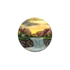Brentons Waterfall   Ave Hurley   Artrave   Golf Ball Marker