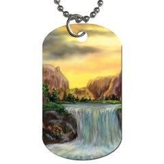 Brentons Waterfall   Ave Hurley   Artrave   Dog Tag (two Sided)