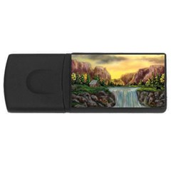 Brentons Waterfall - Ave Hurley - ArtRave - 1GB USB Flash Drive (Rectangle)