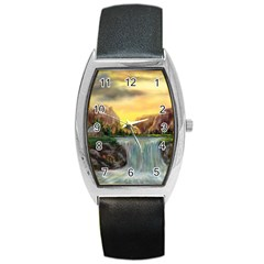 Brentons Waterfall   Ave Hurley   Artrave   Tonneau Leather Watch