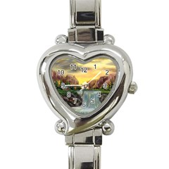 Brentons Waterfall - Ave Hurley - ArtRave - Heart Italian Charm Watch