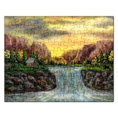 Brentons Waterfall - Ave Hurley - ArtRave - Jigsaw Puzzle (Rectangle)