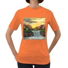 Brentons Waterfall - Ave Hurley - ArtRave - Womens' T-shirt (Colored)