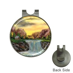 Brentons Waterfall - Ave Hurley - ArtRave - Hat Clip with Golf Ball Marker