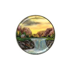 Brentons Waterfall - Ave Hurley - ArtRave - Golf Ball Marker 4 Pack (for Hat Clip)