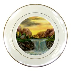 Brentons Waterfall - Ave Hurley - ArtRave - Porcelain Display Plate