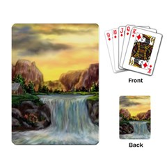 Brentons Waterfall   Ave Hurley   Artrave   Playing Cards Single Design