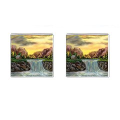 Brentons Waterfall   Ave Hurley   Artrave   Cufflinks (square)