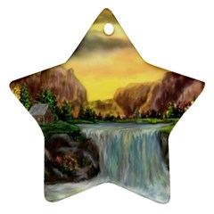 Brentons Waterfall - Ave Hurley - ArtRave - Star Ornament (Two Sides)
