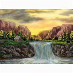 Brentons Waterfall - Ave Hurley - ArtRave - Canvas 12  x 16  (Unframed)